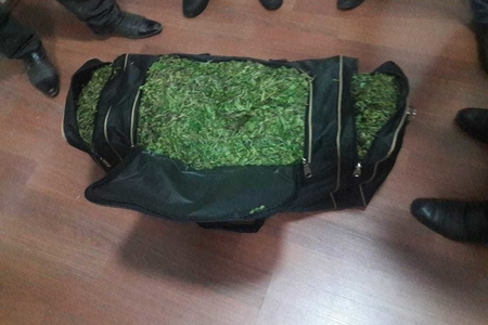 Şəki sakini Balakəndə narkotik maddə dolu çanta ilə saxlanılıb