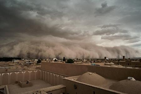 İranda qum fırtınası başlayıb