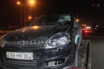 Bakıda dəhşətli qəza avtomobil piyadaları vurdu – Ölən var – Video