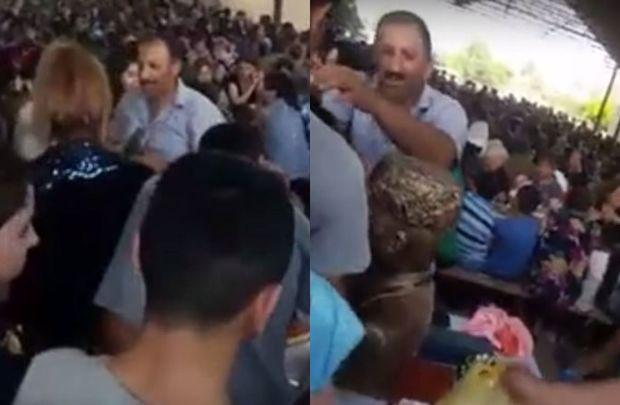 """Azərbaycanda """"Qaloş piri"""" biabırçılığı: Başlarına sürtüb, şəfa gözləyirlər – VİDEO"""