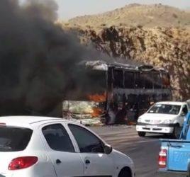Azərbaycandan İrana ziyarətə gedən zəvvarların avtobusu yandı