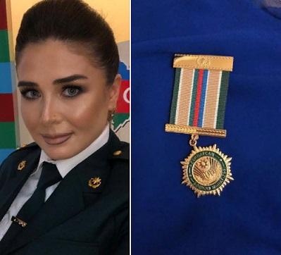 Elnarə medalla təltif olundu