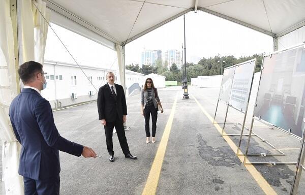 Prezident və xanımı yeni xəstəxananın açılışında – Foto