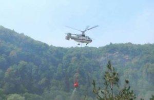 Siyəzəndə yanğın: FHN iki helikopter göndərdi