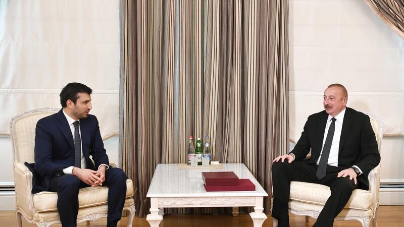 İlham Əliyev Selçuk Bayraktarı qəbul etdi– FOTO