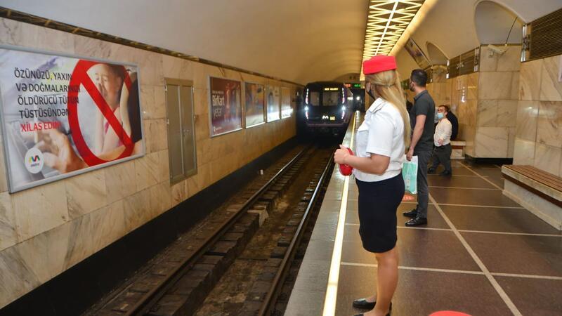 Səhər saatlarında Bakı metrosunda HƏYƏCANLI ANLAR
